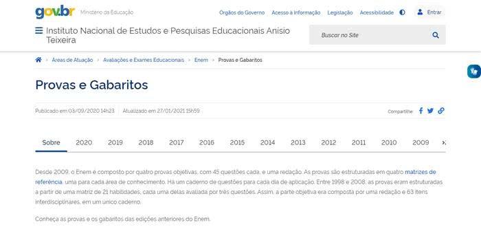 Gabarito ENEM 2022