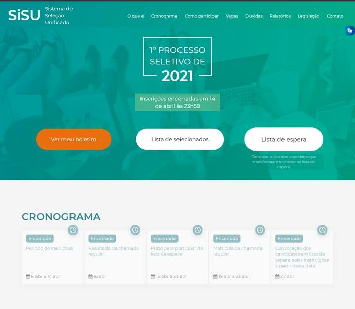 Site do SISU 2022